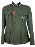 German M36 field-grey wool Infantry NCO Tunic