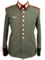 German WW2 Waffenrock M35 Tricot Tunic - Red Piping